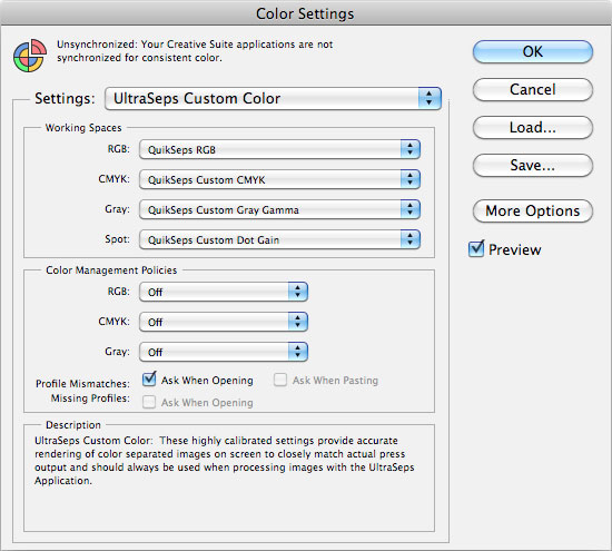Photoshop T-Shirt Color Settings